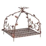 Fiddlehead Fairy House Fairy Home Fairy Garden Fairy Canopy Bed with Leaves 16417